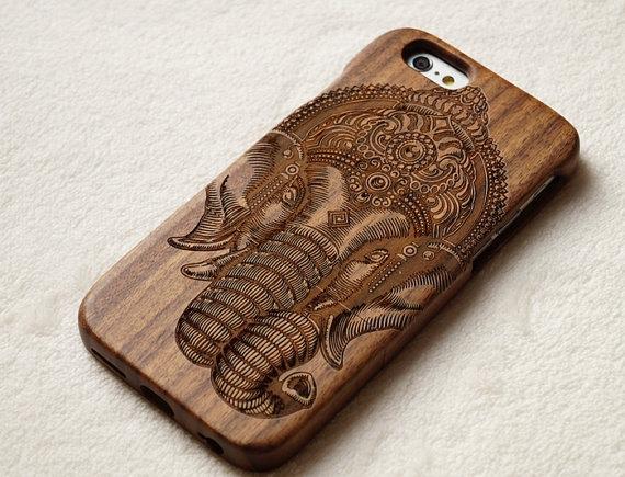 étui en bois pour iPhone 5
